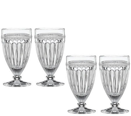 Lenox Set of 4 French Perle All-Purpose Beverage Glasses