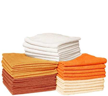 25 Piece Premium Microfiber Towel Set by Campanelli