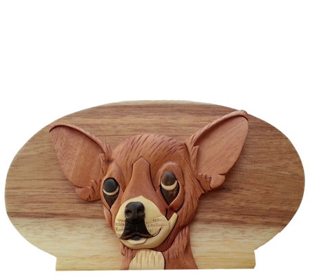 Carver Dan S Chihuahua Puzzle Box With Magnet Closures