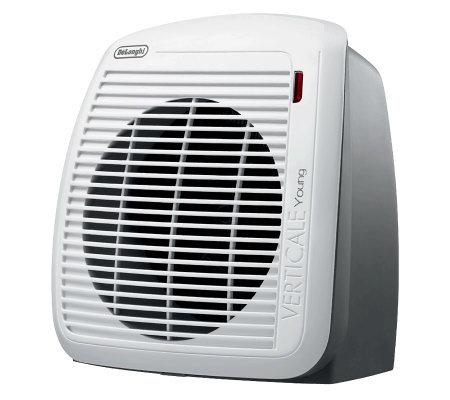 Delonghi 1500 Watt Fan Heater Gray With Whiteface Plate