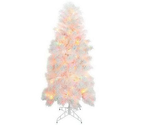 bethlehem lighting christmas trees. Bethlehem Lights 6.5\u0027 Flocked Tree W/ Ready Shape And 5 Year LMW Lighting Christmas Trees