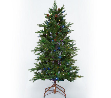 """As Is"" ED On Air Santa's Best 5' Rustic Spruce Tree by Ellen DeGeneres"