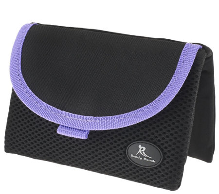 """As Is"" On the Go Belt-Free Pouch Plus with RFID by Lori Greiner"