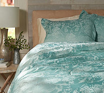 Casa Zeta-Jones Floral Jacquard Reversible Queen Comforter Set - H213478
