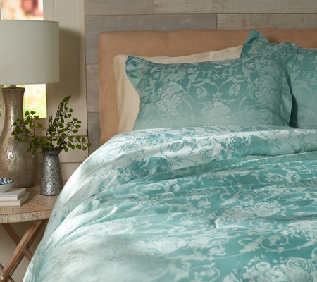 Casa Zeta-Jones Floral Jacquard Reversible Queen Comforter Set