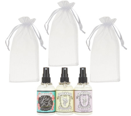 Poo-Pourri Vintage Set of (3) 4-oz Deodorizers with Gift Bags