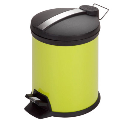Honey-Can-Do 5-Liter Step Trash Can, Lime