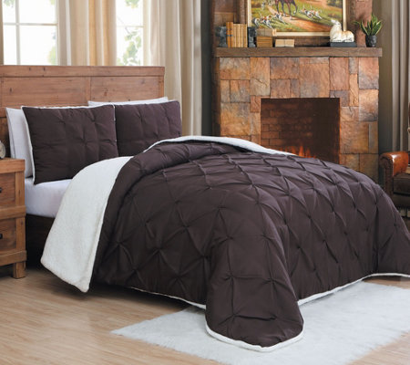 Avondale Manor Avalanche Chandler 3-Pc Sherpa QN Comforter Set