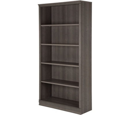South Shore Gray Maple Morgan 5-Shelf Bookcase