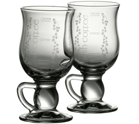 Galway Crystal Irish Coffee Glasses Set Of 2
