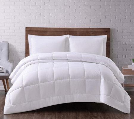 Truly Soft Seersucker Full Queen Down Alternative Comforter