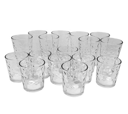 Gibson 16 Piece Tumbler And Double Old Fashioned Glass Set