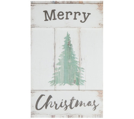 Merry Christmas Barn Door Wall Art