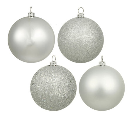 Set Of 96 Shatterproof Ornaments In Four Finishes By Vickerman