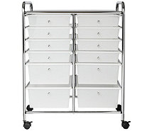 Honey-Can-Do 12-Drawer Chrome Studio OrganizerCart - H356478