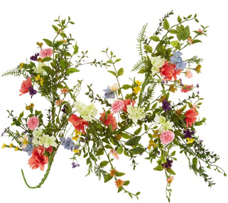 4' Wildflower Blossom Garland by Valerie