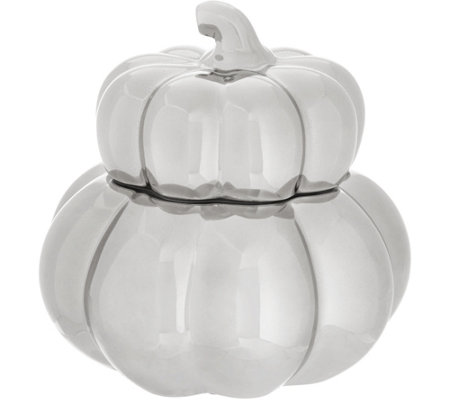 """As Is"" HomeWorx by Harry Slatkin Ceramic Gourd Candle"