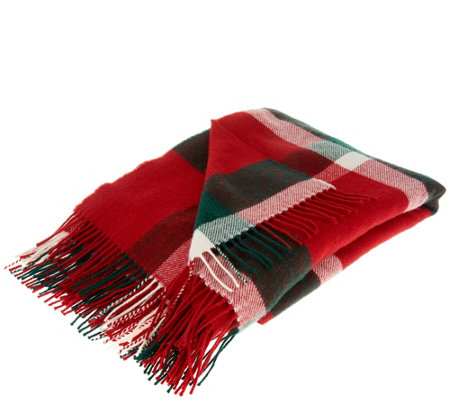 Foxford Wollen Mills Lambswool Plaid Throw