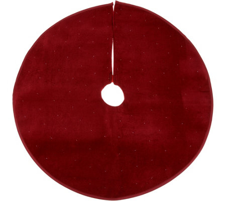 """As Is"" 26"" Round Illuminated and Twinkling Tree Skirt"