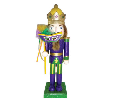 Mardi Gras King Nutcracker by Santa's Workshop