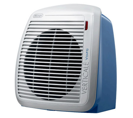DeLonghi 1500-Watt Fan Heater - Blue with GrayFace Plate