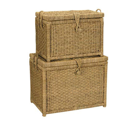 Household Essentials Seagrass Chest, Set of 2