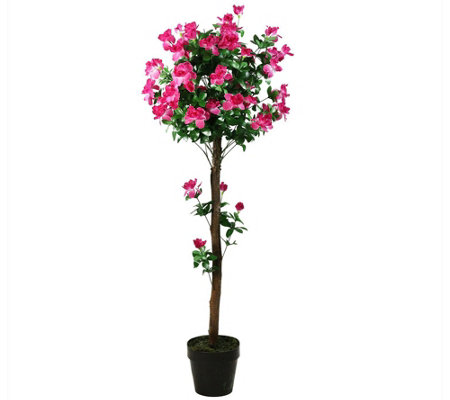 Northlight Decorative Potted Artificial Pink Azalea Tree