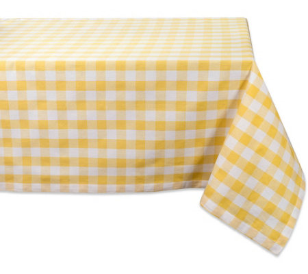Design Imports Checkers Tablecloth 52 X 52