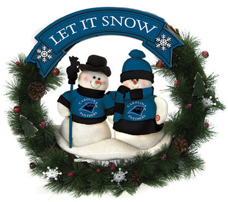 NFL Carolina Panthers Snowman Wreath — QVC.com 9acc8097d