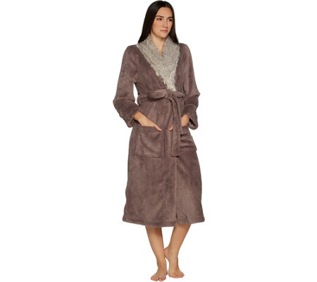 Primalush Full Length Robe with Faux Fur Collar by Berkshire