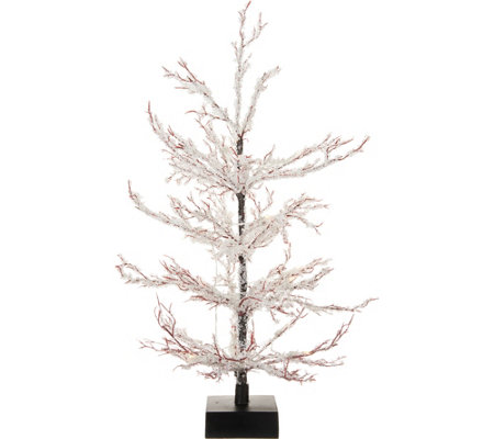"""As"" Is"" 24"" Illuminated Ice Crystal Tree w/ Microlights by Valerie"