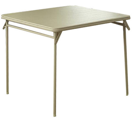 "34"" Vinyl Top Folding Table"