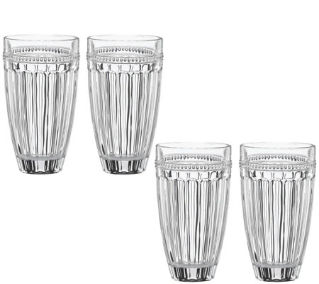 Lenox Set of 4 French Perle Highball Glass Set