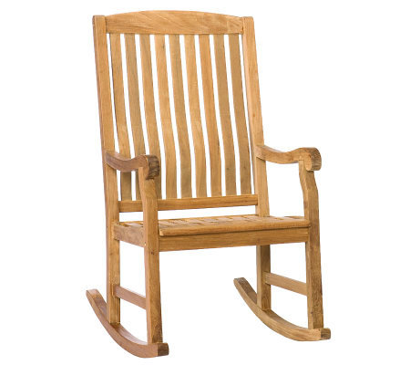 Gannon Outdoor Teak Porch Rocker - Natural OilFinish