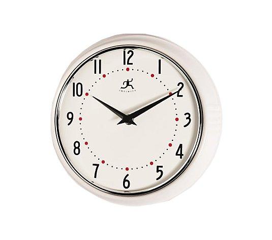 Retro Kitchen Wall Clock Qvc Com