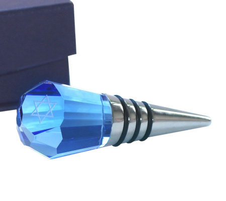 Copa Judaica Crystal Wine Stopper