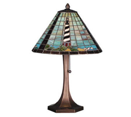 Tiffany Style Lighthouse Table Lamp
