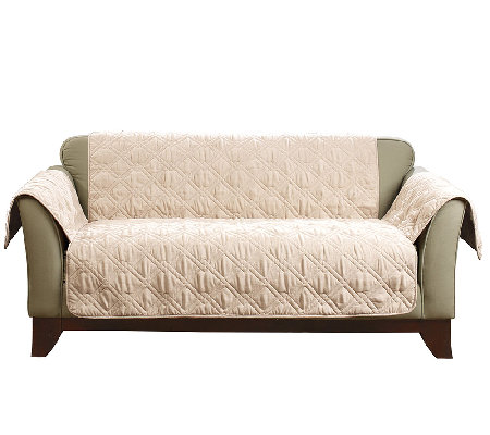 Sure Fit Deluxe Waterproof Non Skid Back Furniture Cover Loveseat