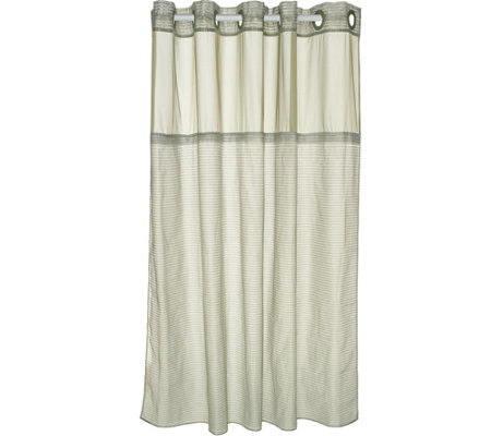 Hookless Luxe Stripe 3- in- 1 Shower Curtain