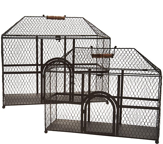 Set of 2 Wire Decorative Chicken Coops by Valerie