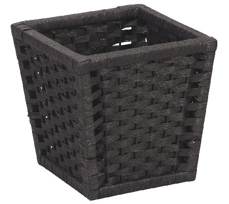 Household Essentials Black Paper Rope Wastebasket