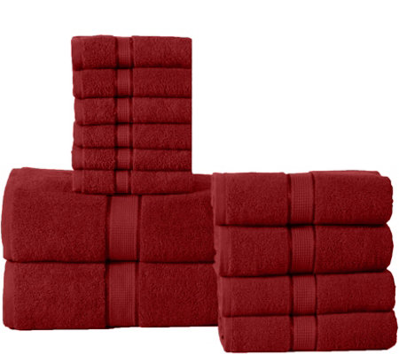Elegance Spa 12-Piece Cotton Towel Set