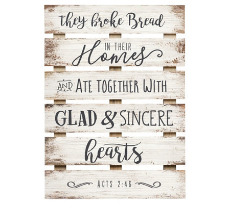 They Broke Bread In Their Homes Wall Art
