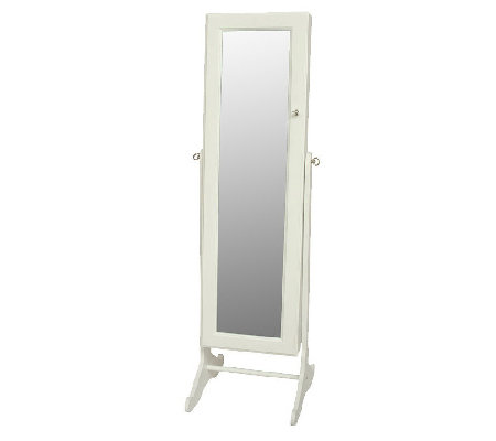 Gold & Silver Safekeeper Mirrored Jewelry Cabinet by Lori Greiner