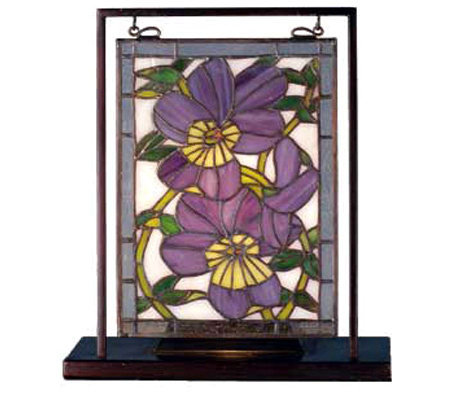 Tiffany Style Pansy Mini Window Display