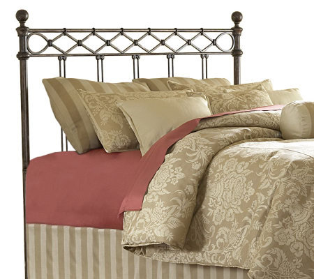 Fashion Bed Group Argyle Copper Chrome Queen Headboard