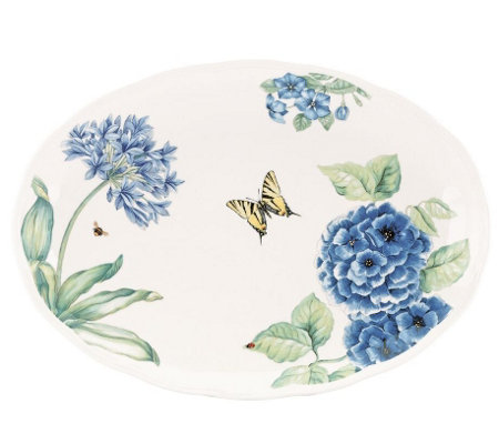 Lenox Butterfly Meadow Blue Oval Platter