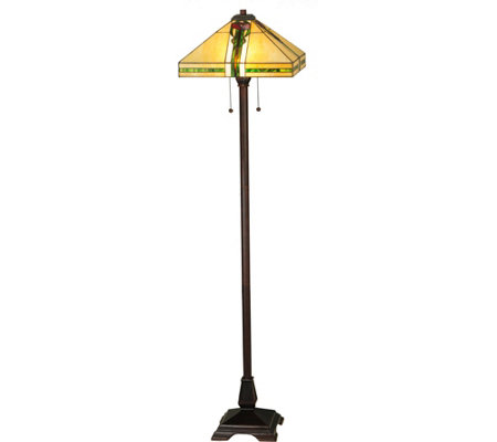 "Meyda 62"" Parker Poppy Floor Lamp"