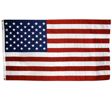 Annin United States Tough-Tex Flag with Grommets 5' x 8'