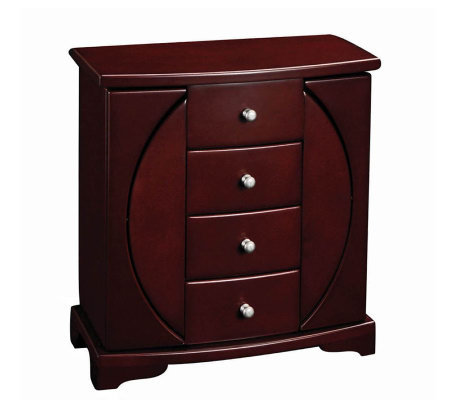 "Mele & Co. ""Simone"" Mahogany Finish Upright Jewelry Box"